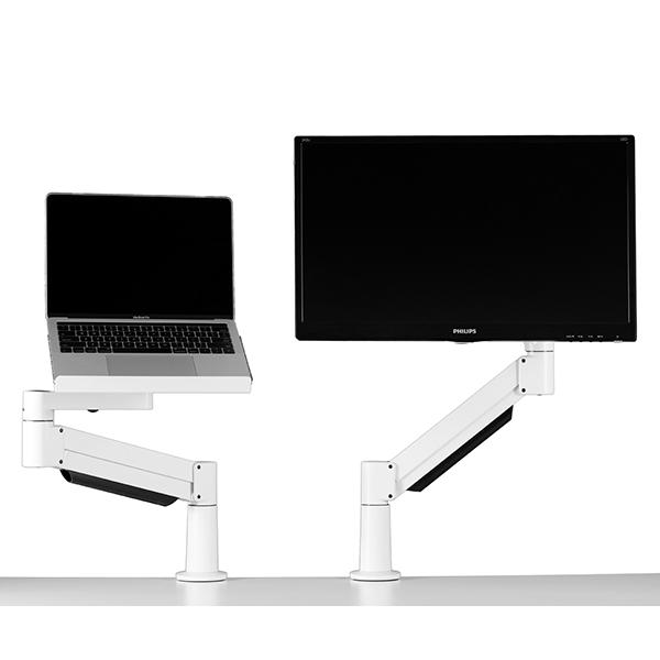 Twin Monito and Laptop Tray setup