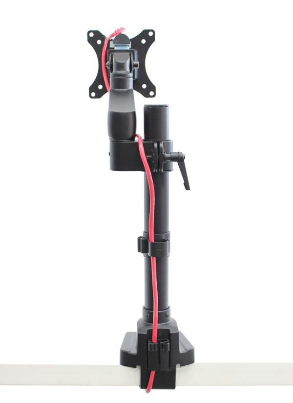 PosFlex Static Single Arm VESA plate cable management