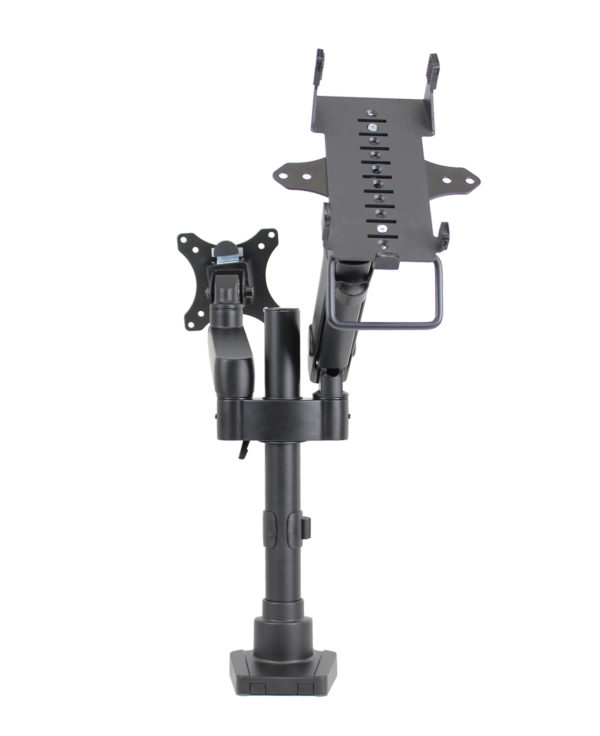 PosFlex Dual Dynamic Arm with VESA and cradle front