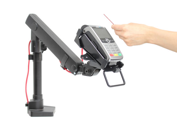 PosFlex Single Dynamic Arm cable management
