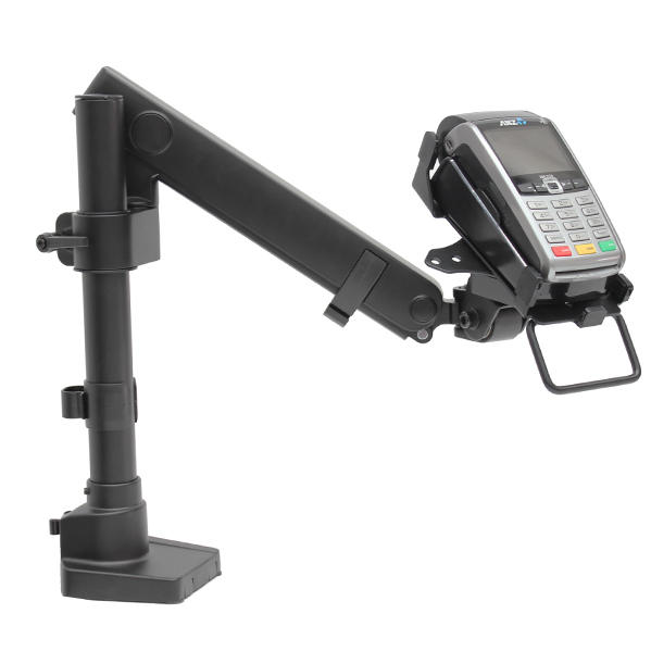 PosFlex Single Dynamic Arm witn EFTPOS cradle ad device 600x600