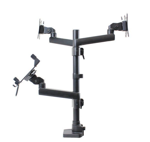 PosFlex triple 3 static arms, cradle and 2 VESA side